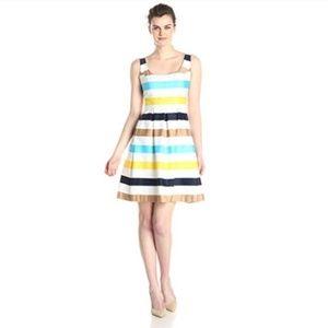 Nine West Striped Fit & Flare Tank Dress sz6